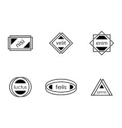 modern labels vector image