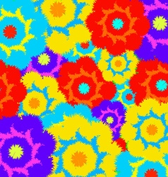 Multi-colored furry flowers Exotic abstract colors vector image vector image