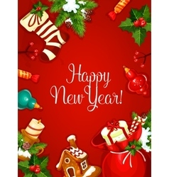 New year holiday poster vector