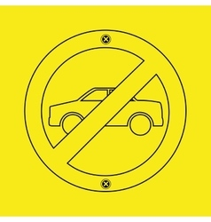 prohibited traffic sign round icon design vector image vector image
