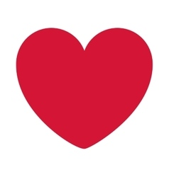 red heart design icon flat vector image vector image