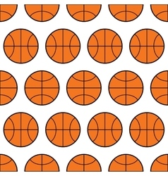 Seamless pattern of basketball sports balls vector image
