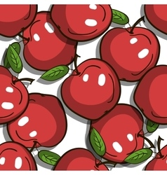Seamless Pattern Red Apples vector image