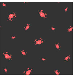 seamless pattern with red crabs vector image