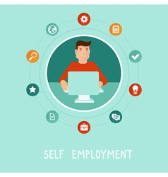 Self employment vector