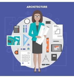 set of icons flat architecture and design vector image