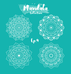 set of mandala decorative and ornamental design vector image vector image