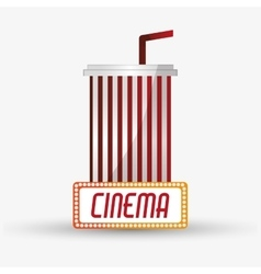 Soda cinema and movie design vector