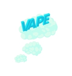 Vape clouds icon in cartoon style vector