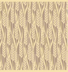 Wheat golden grain seamless pattern vector