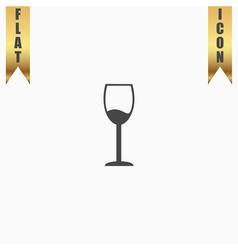 Wine glass icon alcohol drink symbol vector