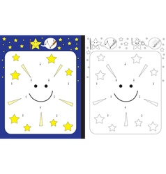 Little star worksheet vector