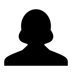 Human woman user profile avatar glyph vector