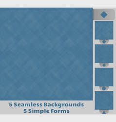 Seamless square backgrounds vector