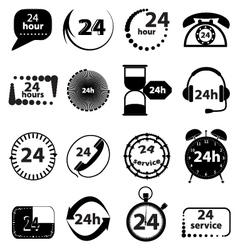 Customer service icons set vector image