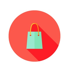 Christmas shopping bag flat icon vector