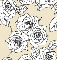 Seamless wallpaper with rose flowers vector