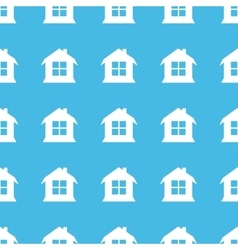 House straight pattern vector