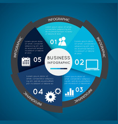 Business infographic pie chart vector image