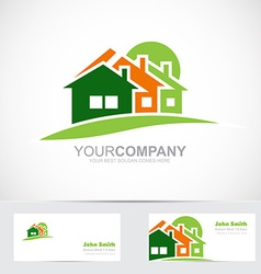 Real estate house logo icon vector image