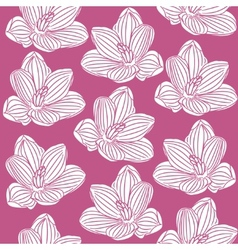 seamless pattern with abstract white flowers vector image