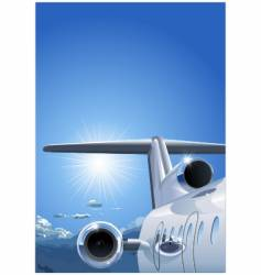 business-jet vector image