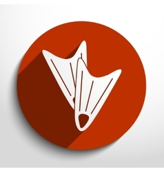 Diving flippers web flat icon vector