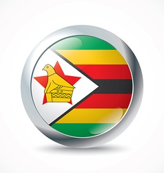 Zimbabwe flag button vector