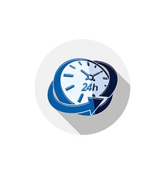 24 hours-a-day interface icon 3d clock time is vector