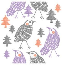 Abstract birds vector