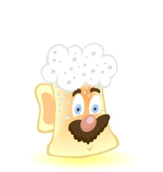 Cute drunk beer mug vector