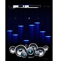 speakers futuristic background vector image