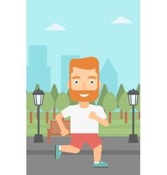Sportive man jogging vector