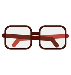 Glasses optical flat icon vector