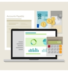 account payable accounting software money vector image