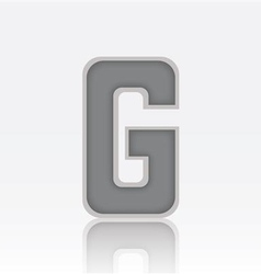 Alphabet G vector image vector image