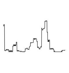 audio equalizer sound icon simple black style vector image