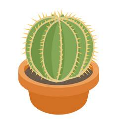 Ball cactus icon cartoon style vector