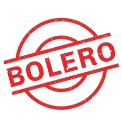 Bolero rubber stamp vector