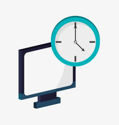 Computer device technology clock time vector