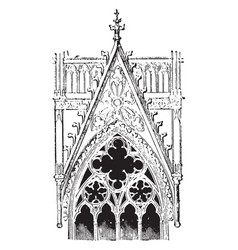Decorative gable from cologne cathedral germany vector