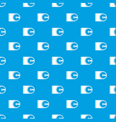 dvd drive open pattern seamless blue vector image vector image