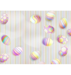 Easter eggs painted EPS 10 vector image vector image