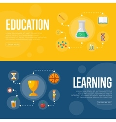 Education infographics concept banners vector image