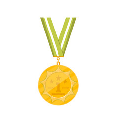 first place golden medal icon vector image