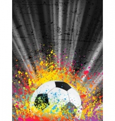 football poster light burst vector image vector image