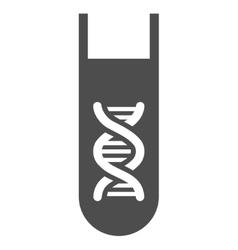 Genetic analysis test-tube flat icon vector