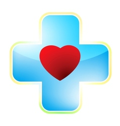 Heart medical cross EPS 8 vector image