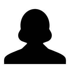 Human woman user profile avatar glyph vector