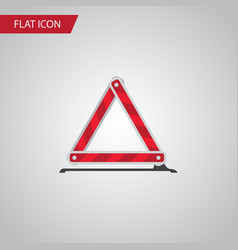 Isolated emergency stop flat icon warning vector